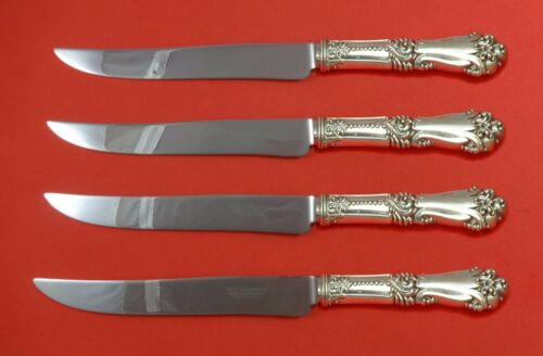 La Marquise by Reed and Barton Sterling Steak Knife Set 4pc Texas Sized Custom