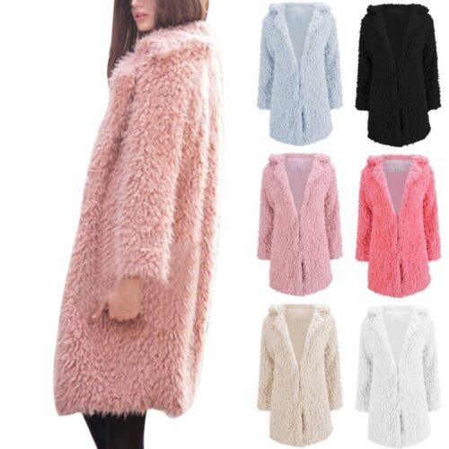Winter Coat Women's Tall Long Jacket Faux Fur Warm Parka Outwear Ladies Overcoat