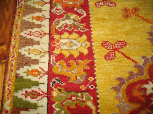 Antique Turkish Oushak Ushak Melas Rug 3'3''x4'8''