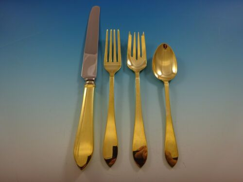 Faneuil Gold by Tifffany and Co. Sterling Silver Flatware Set Service Vermeil