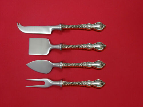 Du Barry by International Sterling Cheese Serving Set 4 Piece HHWS  Custom