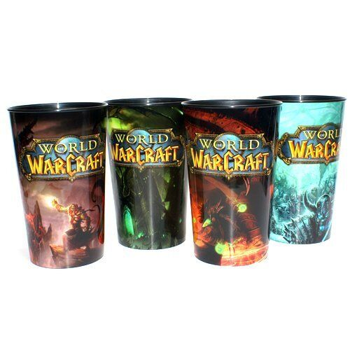 Limited Edition World of Warcraft Plastic 32 ounce Cups Set of 4