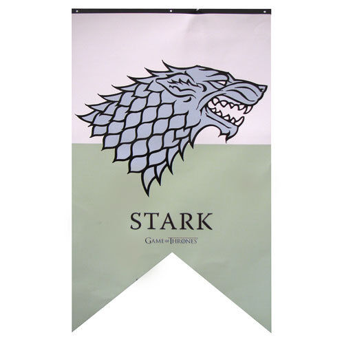 Game of Thrones New * Stark Sigil Banner * 30 x 50 Fabric Poster Print Dire Wolf