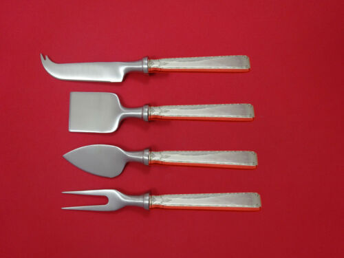 Old Lace by Towle Sterling Silver Cheese Serving Set 4 Piece HHWS  Custom
