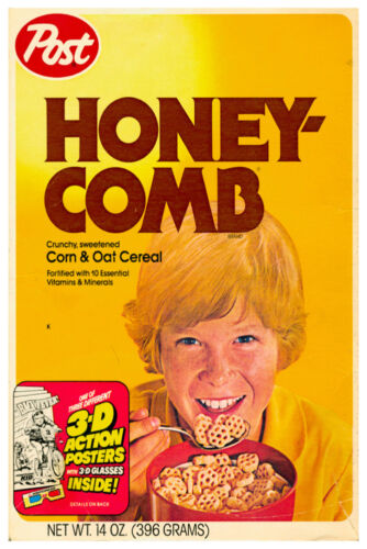 """VINTAGE HONEYCOMBS CEREAL POSTER 12"""" x 18"""""""