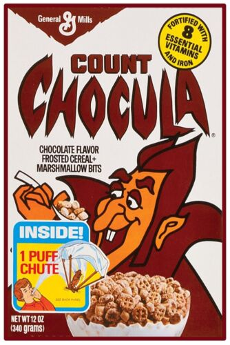"""VINTAGE COUNT CHOCULA CEREAL POSTER 12"""" x 18"""""""