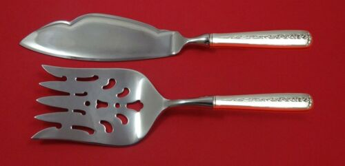 Rambler Rose by Towle Sterling Silver Fish Serving Set 2 Piece Custom Made HHWS