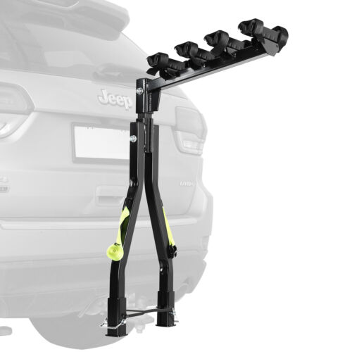 A Frame Twin Pole 4 Bike Bicycle Tow Ball Car Rack Carrier