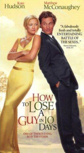 How To Lose A Guy In 10 Days VHS Tape Matthew McConaughey Free Post