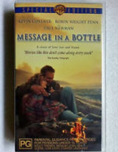 Message In A Bottle Kevin Cosner Paul Newman Vhs Tape Free Postage