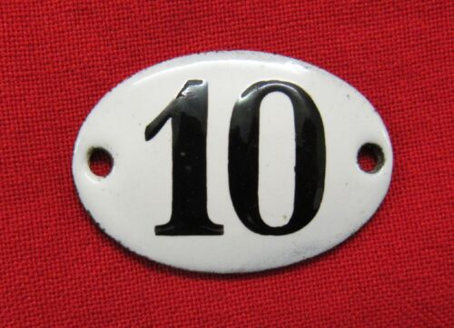 Imperial Russian Time Apartment Enamel Sign Number 10.