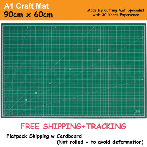 A1 5-Ply Self Healing Craft Cutting Mat 2-Sided Print Quilting - Scrapbooking <br/> Normal PVC |Beware lookalike| Made By JKCraft 30yrs exp