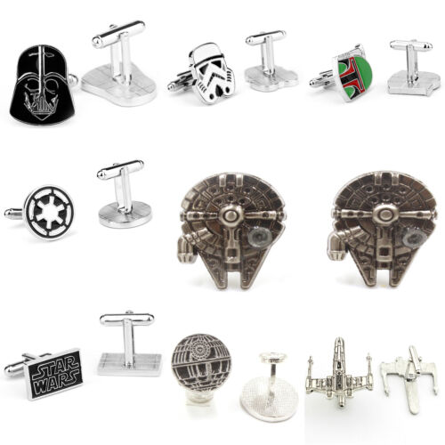 Star Wars Darth Vader Millenium Falcon Mens Cufflinks Jewelry Wedding Party Gift