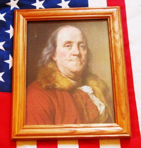 American Patriot of the Revolution, Portrait Benjamin Franklin, on canvas 1778Reenactment & Reproductions - 156376