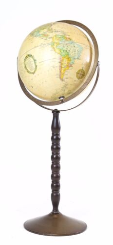 "VINTAGE REPLOGLE 12"" GLOBE ON FLOOR STAND BASE"