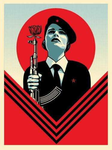 Shepard Fairey PEACE GUARD 2 Signed Print Poster Greater We The People Obey Art