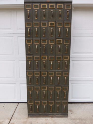 VINTAGE INDUSTRIAL FACTORY 42 DRAWER VERTICAL FILE CABINET GENERAL FIREPROOFING