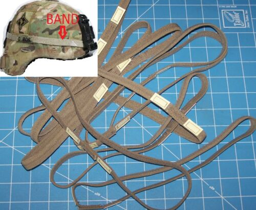10 HELMET BAND CAT EYE f M1 MICH PASGT ARMY USMC MILITARY & Shelby P38 OpenerOther Militaria - 135