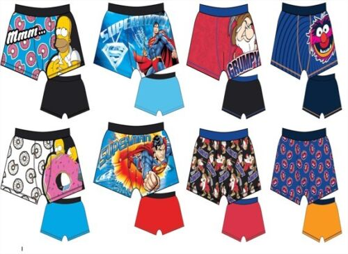Mens Novelty 2 pack Character Trunks Boxer Shorts Cotton Underwear Size  S - XL <br/> Cartoon The Simpsons Muppets Dwarfs Lycra Stretch S M L