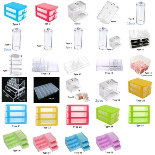 Clear Acrylic Cosmetic Organizer Makeup Case Holder Drawers Jewelry Storage TR