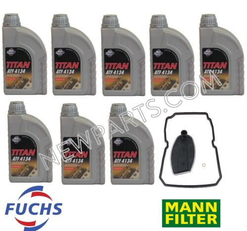 For Mercedes 8 Liters Auto Trans Fluid ATF 4134 MBZ Approval236.14+Filter Kit