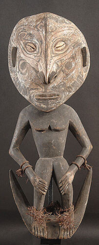 FEMALE  ANCESTOR SPIRIT HOOK   MIDDLE SEPIK RIVER  PAPUA NEW GUINEA #4