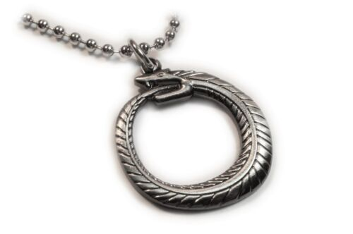 OUROBOROS Serpent Eating Tail Introspection Egypt Charm Pendant Necklace Chain