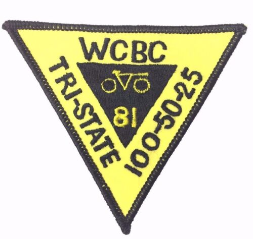 Vintage Bicycle WCBC Tri-State 1981 New Jersey Tour Cycling Patch New Condition
