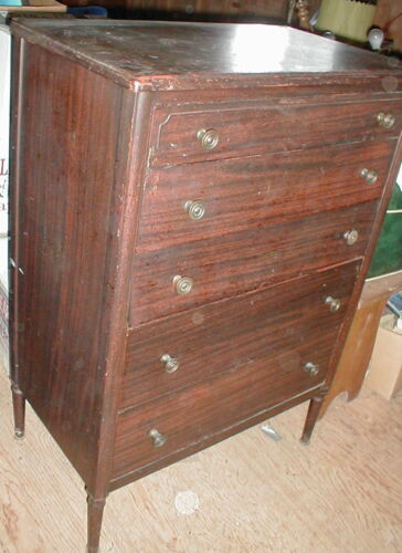 "`FAMOUS ""SIMMONS FURNITURE CO. 1920s STEEL DRESSER"" Superior original finish"