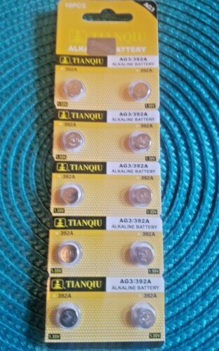 10 Pieces #392 AG3/LR41 Watch Batteries Expires 2020  FREE SHIPPING in the USA