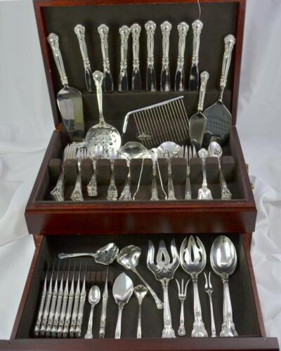 80pc Gorham Chantilly Sterling Silver Flatware Set **Many Serving Pieces**