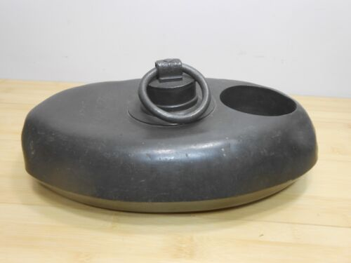 1846 Oval Bed Foot Warmer with RARE Baby Bottle Holder L. R. (B) Maker L. S.