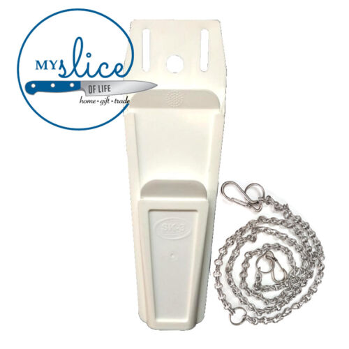 White Mars Knife Pouch + Stainless Steel Chain - Butcher/Scabbard/Safe StorageKnives - 42574