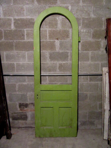 ~ ANTIQUE DOOR WITH FULL ARCHED TOP ~ 32 X 95.25 ~  ARCHITECTURAL SALVAGE