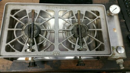 Early/Vintage Wilcox Crittenden W/C sea cook II 2 burner alocohol Stove