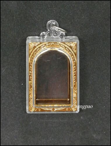 Thai Amulet Buddha Empty Case Frame Clear Acrylic Waterproof Shape Phra Somdej