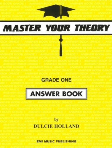 Master Your theory Grade 1 / One - Answer Book - Dulcie Holland E54519 NEW