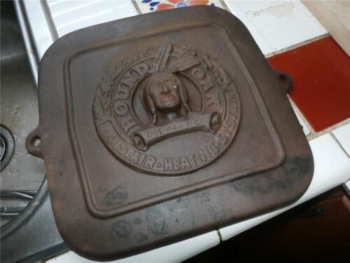 VINTAGE DOE WAH JACK OAK STOVE CAST IRON DOOR