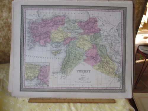 Vintage Print,TURKEY IN ASIA,Johnson or Mitchell,c1850,Color