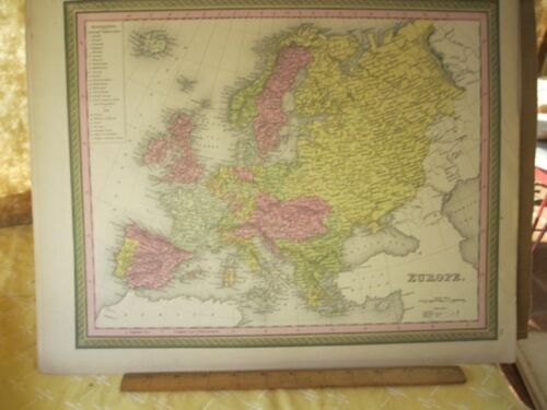 Vintage Print,EUROPE,Johnson or Mitchell,c1850,Color