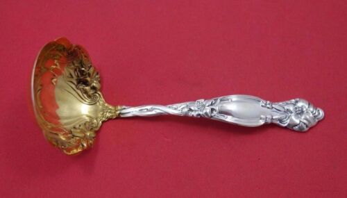 Frontenac by International Sterling Silver Sauce Ladle Gold Washed 5 1/2""