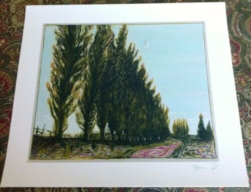 BILLY CHILDISH 'Moon and Poplar Trees', 2017 SIGNED Limited Edition Print *NEW*