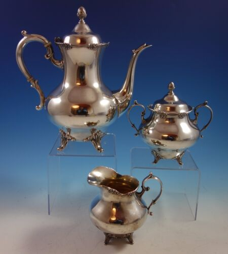 Tara by Reed & Barton Sterling Silver Coffee Set 3pc #820 (#1502)