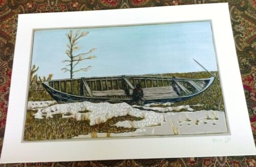 BILLY CHILDISH 'Man Sitting (in Canoe)', 2017 SIGNED Limited Edition Print *NEW*