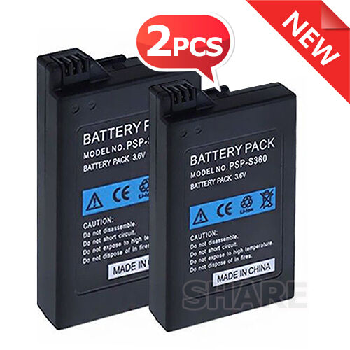 2x 3600mAh Replacement Rechargeable Battery for Sony PSP SLIM 2000/3000 Console