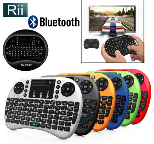 Rii i8+ BT Mini Wireless Bluetooth Backlight Touchpad Keyboard with Mouse Combo