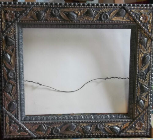 "ANTIQUE LATE 19TH C. VICTORIAN GILT PICTURE FRAME WOOD-GESSO 24"" X 21"" 3 1/2"" W"