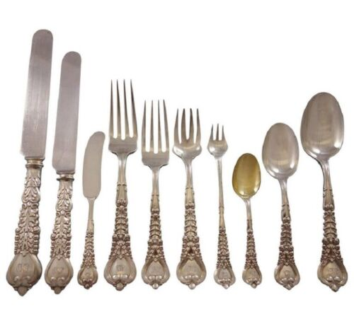 Florentine by Tiffany and Co. Sterling Silver Flatware Set Service 240 pieces