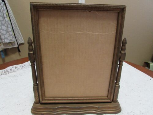 """Vintage Art Deco Swivel Picture Frame Fits 8"""" X 10"""" Photo or Holds a Mirror"""