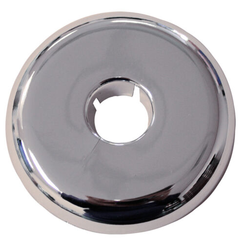 """Pack 12, Chrome Plated Plastic 3"""" IPS 5.875 Flange OD Flexible Floor and Ceiling"""